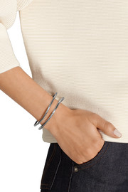 Bottega Veneta Set of two oxidized sterling silver bracelets