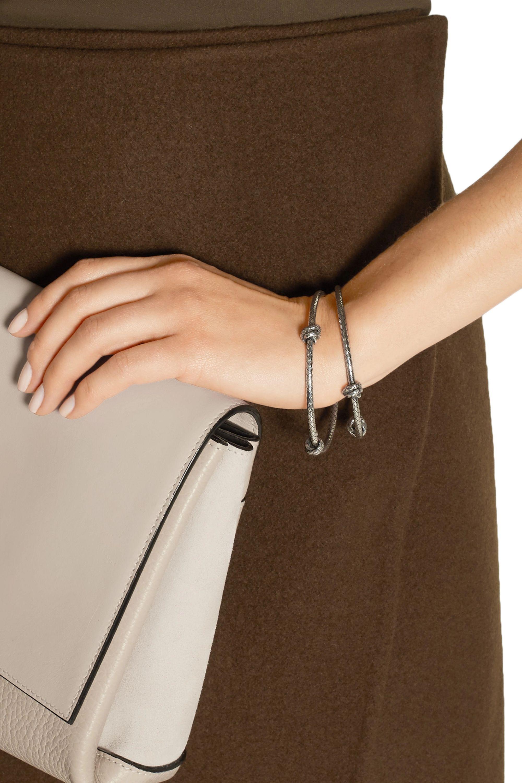 Bottega Veneta Oxidized sterling silver bracelet