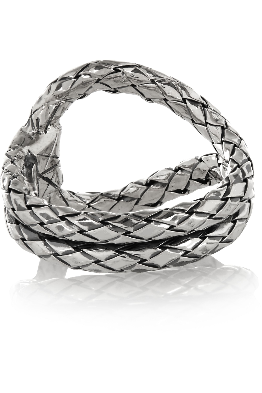 Bottega Veneta Oxidized sterling silver ring