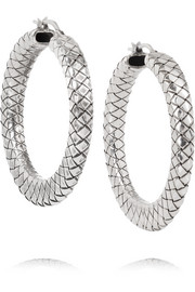 Oxidized sterling silver hoop earrings