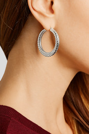 Bottega Veneta Oxidized sterling silver hoop earrings