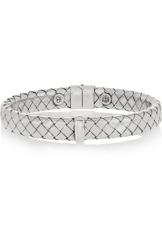 Bottega Veneta Intrecciato sterling silver bracelet