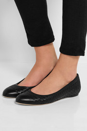 Bottega Veneta Intrecciato leather ballet flats
