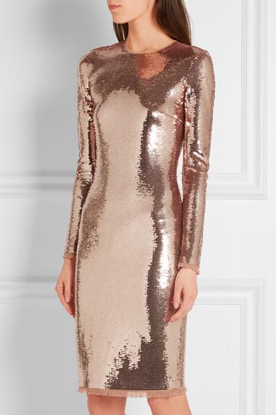 Tom Ford Sequined Tulle Dress Net A Porter Com