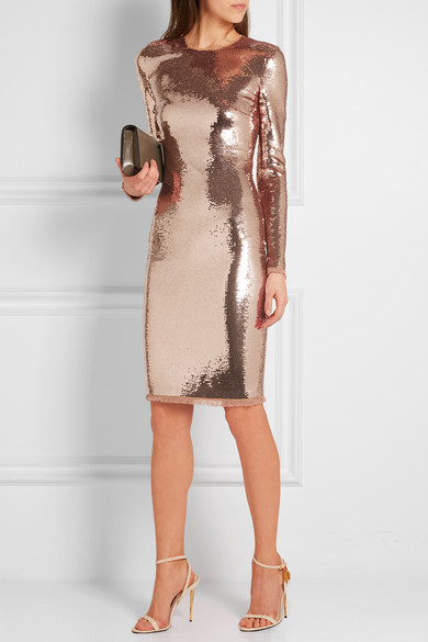 TOM FORD | Sequined tulle dress | NET-A-PORTER.COM