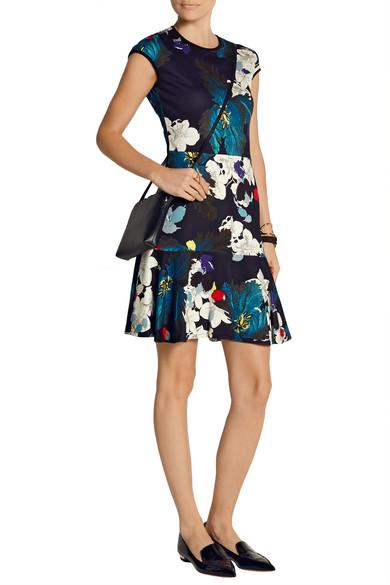 Erdem | Darlina Kleid aus Stretch-Ponte mit floralem Print | NET-A ...