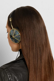 Taylor leather and mother-of-pearl headphones