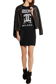 Moschino Intarsia wool mini dress
