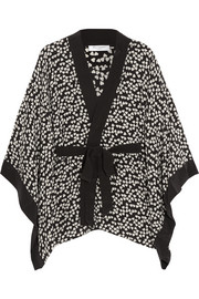 Elias heart-print washed-silk robe