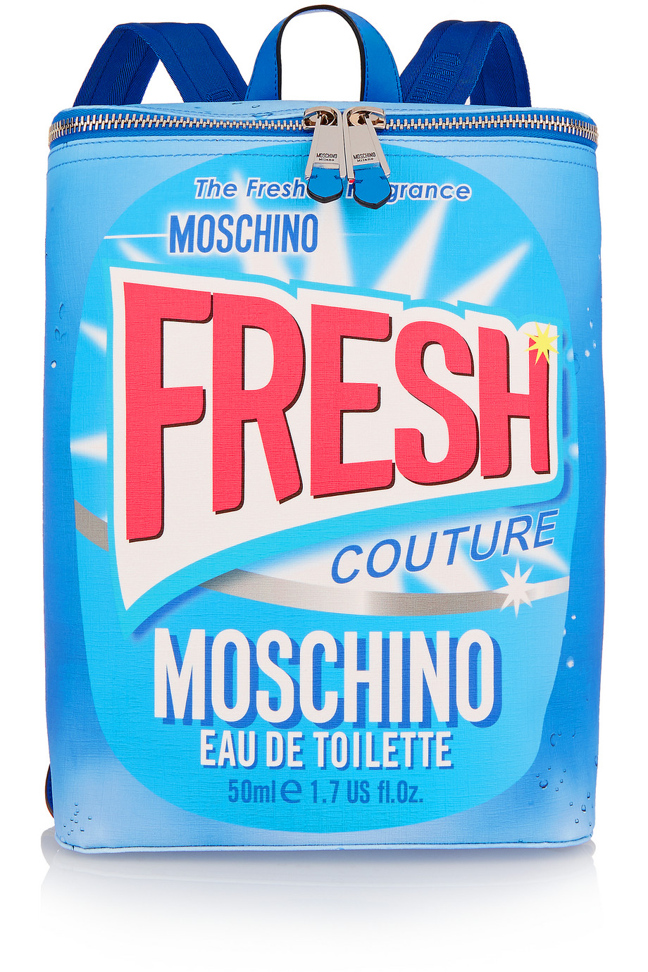 Moschino Printed Faux Textured-Leather Backpack