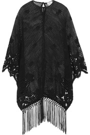Vonna crocheted cotton-lace kaftan