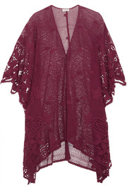 Gaby crocheted cotton-lace kaftan