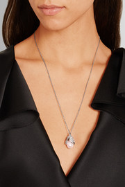 Holiday Collection Eugenia silver-tone, pearl and crystal pendant necklace
