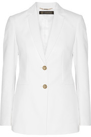 Stretch cotton-blend blazer