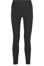 Mesh-paneled stretch-jersey leggings