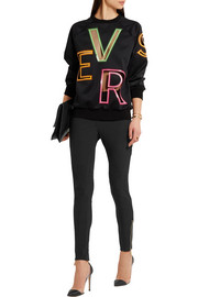 Versace Mesh-paneled stretch-jersey leggings
