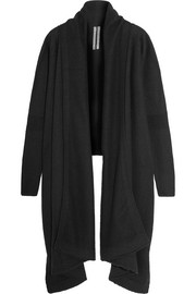 Rick Owens Draped boiled cashmere cardigan