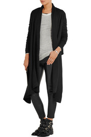 Draped boiled cashmere cardigan