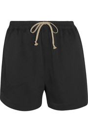 Stretch-faille shorts
