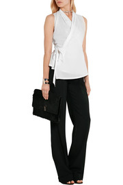 Rick Owens Cotton-voile wrap top