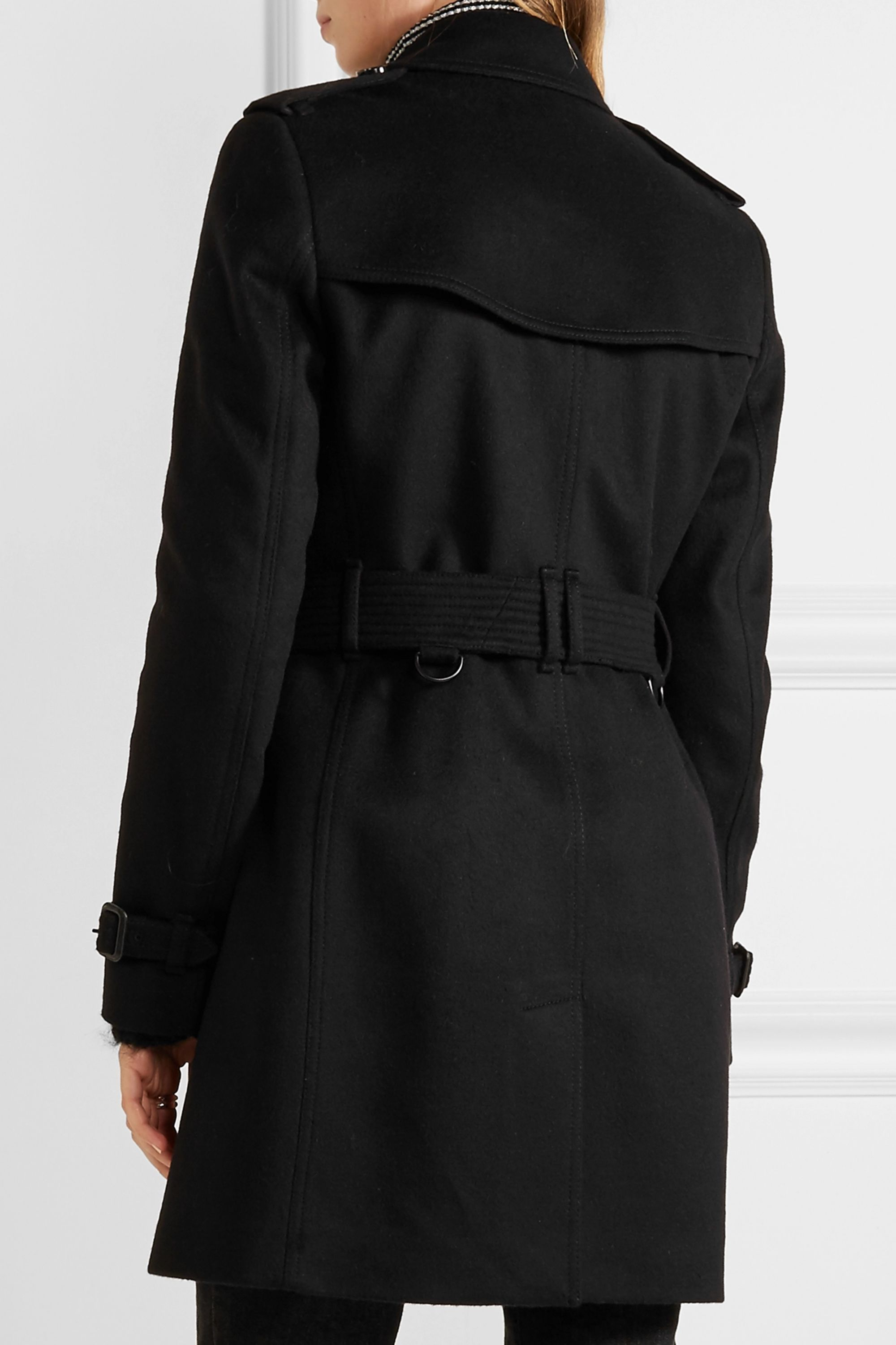 Burberry The Kensington Mid wool and cashmere-blend trench coat