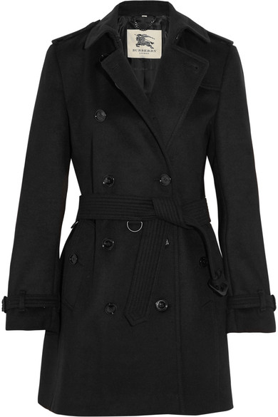The Kensington Mid wool and cashmere-blend trench coat