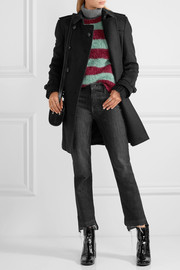 Burberry London The Kensington Mid wool and cashmere-blend trench coat