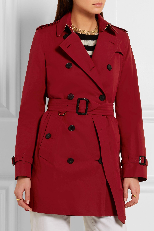 Burberry The Kensington Mid cotton-gabardine trench coat
