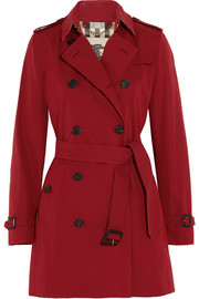 Burberry London The Kensington Mid cotton-gabardine trench coat