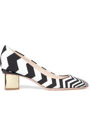 Briona Prism printed satin pumps