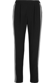 Fendi Crepe de chine-paneled crepe track pants