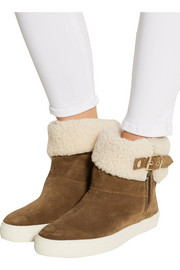 London shearling-lined suede boots