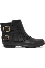 London fringed rubber rain boots