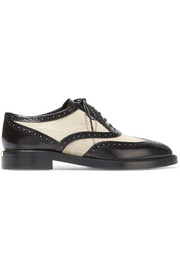 Burberry London London leather and canvas brogues