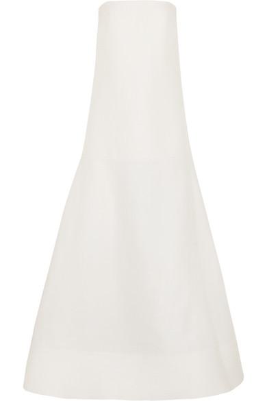Roksanda Maury Robe aus einer Woll-Seidenmischung mit tiefsitzender Taille