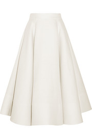 Allaird wool and silk-blend midi skirt