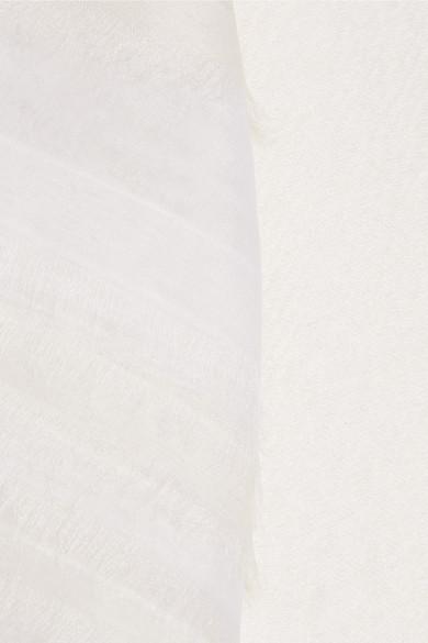 Roksanda Amity Oberteil aus einer Woll-Seidenmischung mit Organza-Besatz