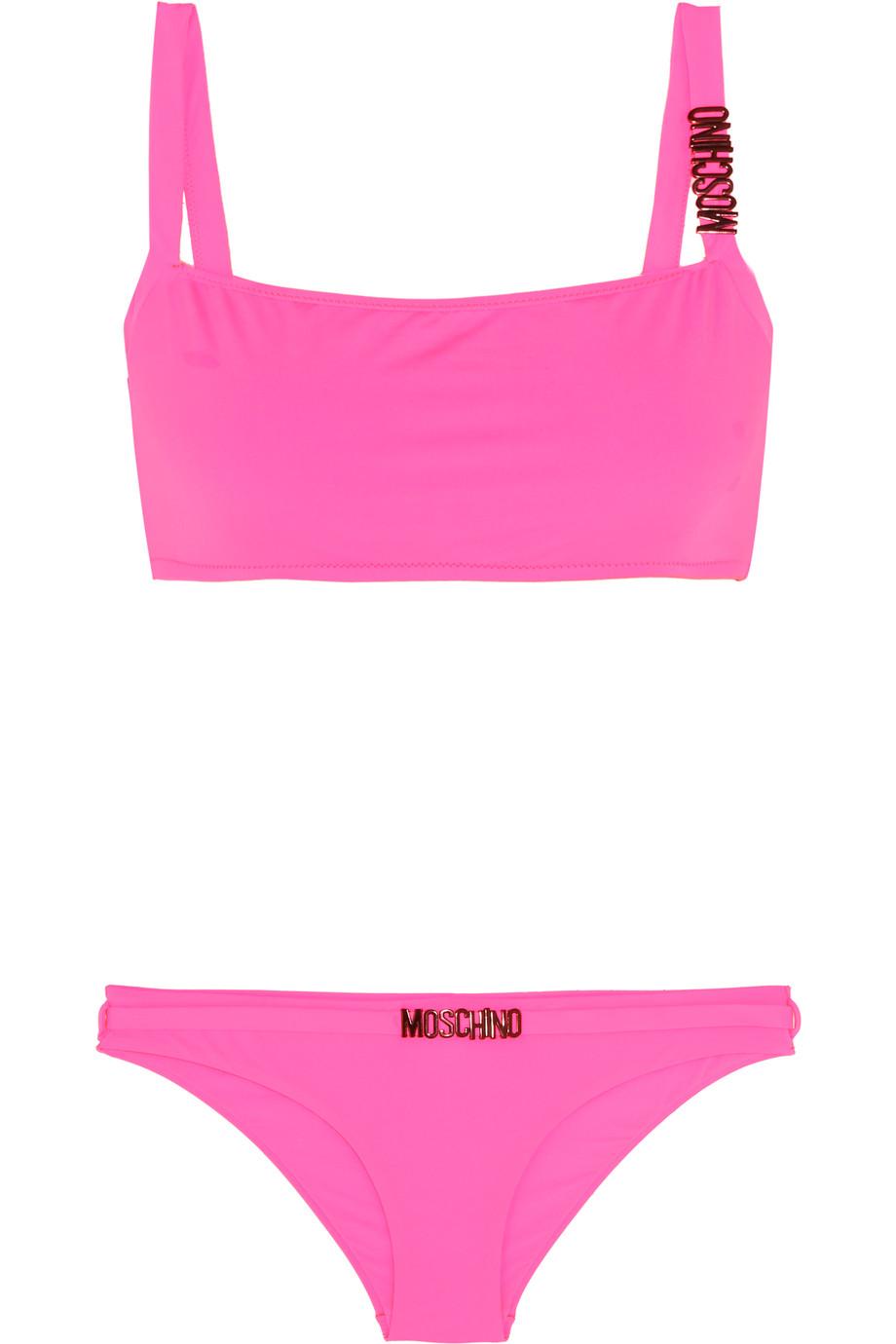 Moschino Embellished Bikini, Bright Pink, Women's, Size: 5