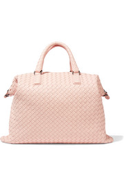 Convertible small intrecciato leather tote