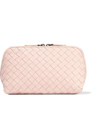 Bottega Veneta Intrecciato leather cosmetics case
