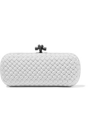 The Knot intrecciato satin clutch