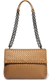 Olimpia medium intrecciato leather shoulder bag