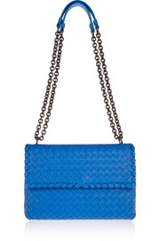 Olimpia small intrecciato leather shoulder bag