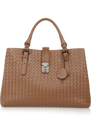 Roma medium intrecciato leather tote