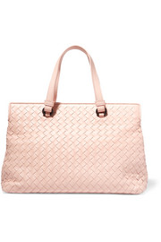 Medium intrecciato leather tote