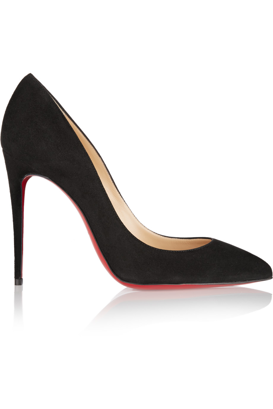 Christian Louboutin Pigalle Follies 100 Suede Pumps, Black, Women's US Size: 3.5, Size: 34