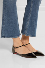 Christian Louboutin Riverina patent-leather point-toe flats