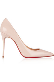 Christian Louboutin Décolleté 100 patent-leather pumps