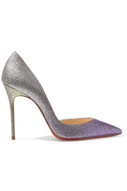 Christian Louboutin Iriza 100 dégradé glittered leather pumps