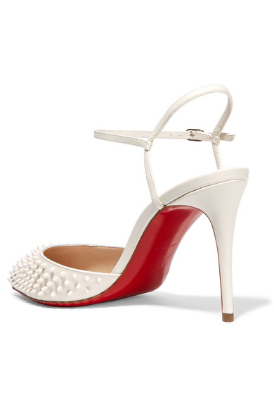 christian louboutin official - christian louboutin biala spike leather red sole pump, louboutins ...